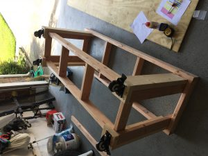 Workbench Frame with Casters