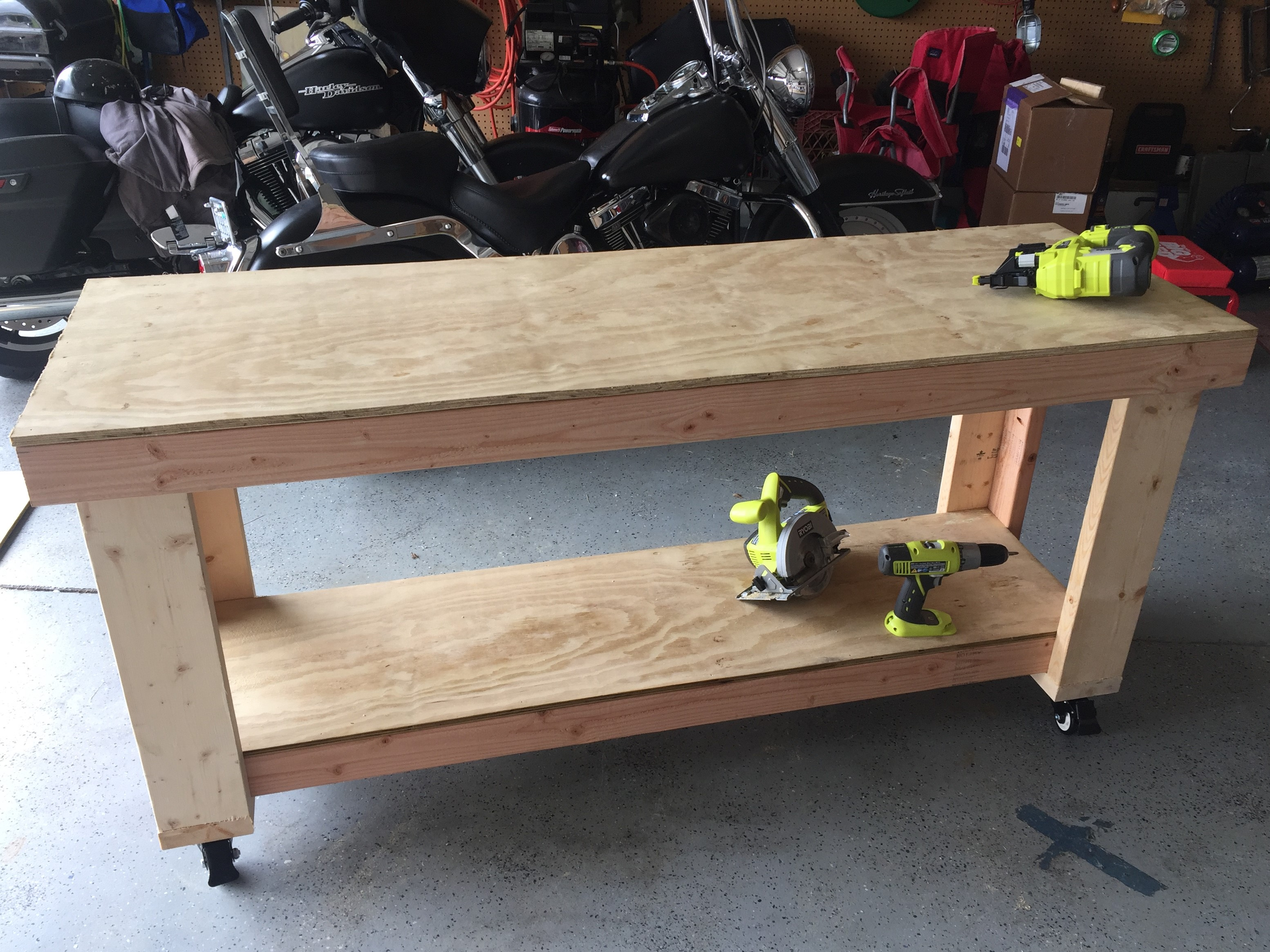 how to build a workbench in my garage